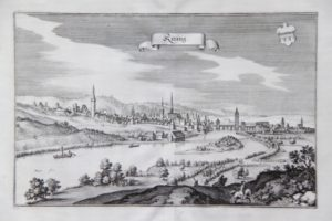 Kitzingen am Main, Bayern (Stahlstich um 1845)